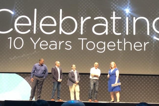 Cofondateur et CEO de Nutanix, Dheeraj Pandey a fêté les 10 ans de la société lors de son .Next à Los Angeles. (Crédit S.L.)