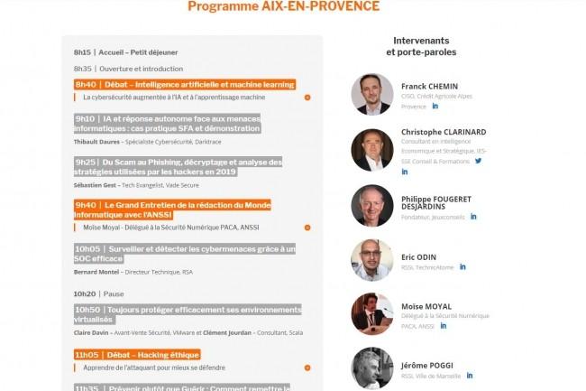 La Cybermatinée Sécurité 2019 à Aix-en-Provence se déroulera à l'Hôtel Renaissance le 15 mai 2019. (crédit : D.R.)