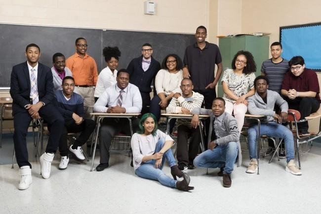 Les écoles  P-Tech d'IBM reposent sur l'implication de partenaires industriels qui font du mentorat dans les lycées, comme ci dessus à  Brooklyn, aux Etats-Unis. Crédit IBM
