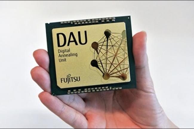 Pas encore tout à fait quantique, la puce Digital Annealer de Fujitsu est graduée par paliers de 64 bits. (Crédit Fujitsu)