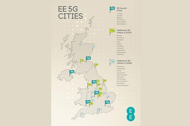 Le déploiement de la 5G par EE au Royaume-Uni sera progressif jusqu'à 2020. (Crédit : EE)