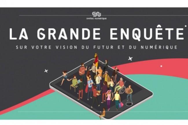 Lancée à l'occasion des 50 ans de Syntec Numérique, l'enquête Racontemoilefutur.fr appréhendera les comportements et opinions des Français vis-à-vis des innovations numériques et technologiques. Crédit. D.R.