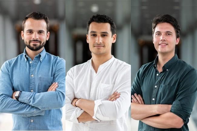 Mindsay a été fondée en 2016 par Guillaume Laporte, CEO, Ilias Hicham, COO et Pierre Pakey, CTO. (Crédit : Mindsay)