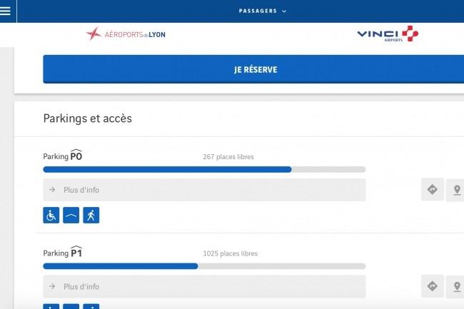 Sur le site Internet Lyonaeroports.com, le 30 avril, des utilisateurs des services de parking et salons ont été attirés sur un faux site. (Crédit : D.R.)
