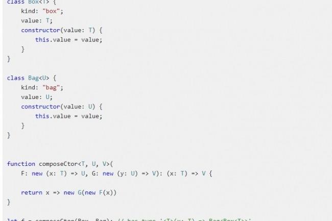 La v3.5 de TypeScript inaugure l'inférence de type d'ordre supérieur à partir de constructeurs génériques. (crédit : Microsoft)