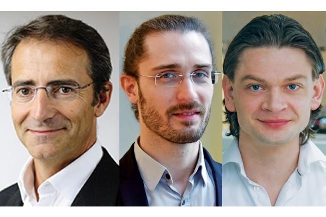 Les co-fondateurs de Dashlane (de gauche à droite) : Bernard Liautaud, membre du Conseil d'administration ; Guillaume Maron, vice-président de l'ingénierie et Jean Guillou, architecte logiciel. (Crédit : Dashlane)