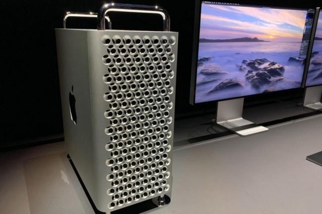 Prrocesseur Xeon 28 coeurs, 1.5To de mémoire, 8 ports PCIe et nouvelle architecture graphique sont au menu du dernier Mac Pro présenté par Apple le 3 juin lors de son événement WWDC 2019. (crédit : Roman Loyola/IDG)