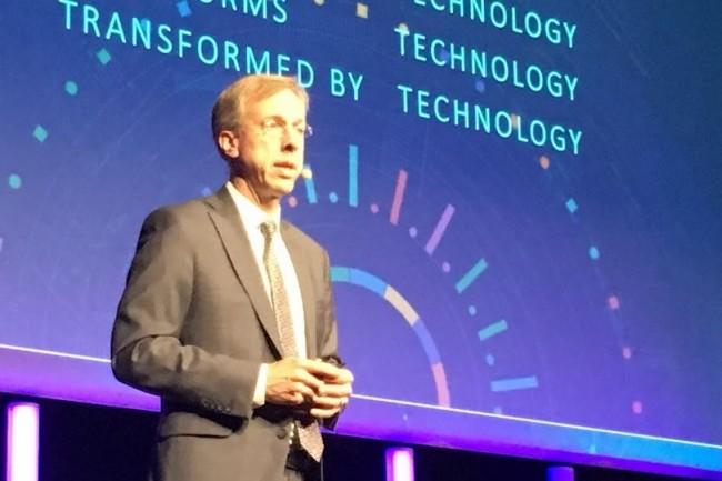 Randy Guard, vice-président exécutif et directeur marketing (CMO) de l'éditeur américain SAS, a affirmé la réalité des projets analytiques nourris à l'IA chez les clients. (Crédit : LMI/MG)