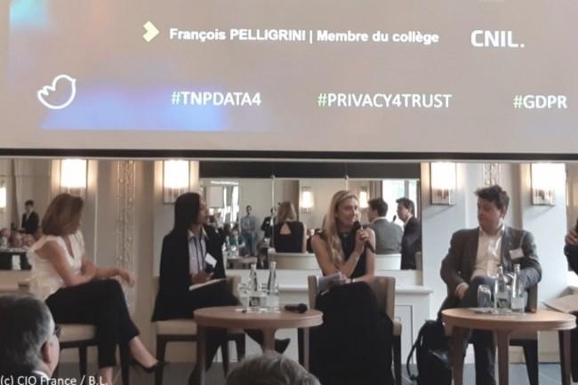 De gauche à droite : Florence Bonnet (directrice, TnP), Fabienne Naime (DPO, Axa Partners), Elisabeth Quillatre (DPO, Christian Dior Couture) et François Pellegrini (membre de la CNIL).