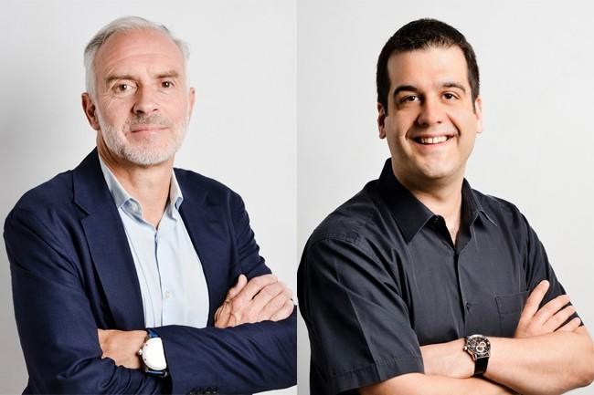 Sentryo a été fondée en 2014 à Lyon par Laurent Hausermann (à gauche), président, et Thierry Rouquet, directeur général. (Crédit : Sentryo)