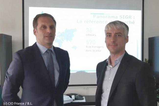 De gauche à droite : François Beaume, vice-président de l'AMRAE, et Bertrand Rubio, senior manager GRC Transformation chez EY Consulting.