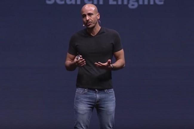 Shay Banon, directeur général d'Elastic, lors d'une conférence en mars 2018. (Crédit : Elastic)