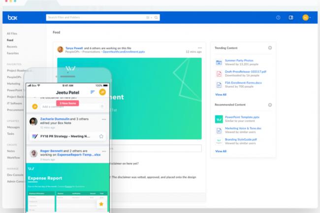 Avec Feed, Box a apporté une fonctionnalité proposant des mises à jour personnalisées en temps réel. (Crédit Box)