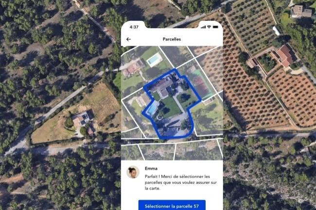 Luko est capable grâce à l'IA et aux différentes bases de données de reconnaître plusieurs paramètres depuis une image satellite et fournir une contrat d'assurance habitation adaptée. (Crédit Photo: Luko)