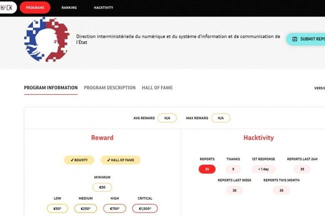 Le bug bounty de Tchap a été mis en place via la plateforme YesWeHack. (Crédit : D. R.)