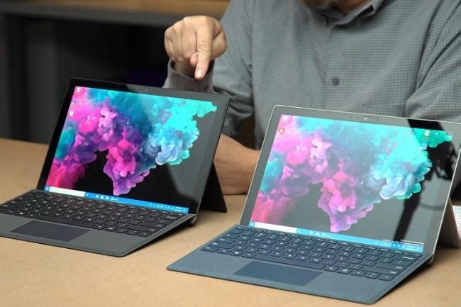 Le Surface Pro 6 n'avait pas b�n�fici� d'am�liorations retentissantes en octobre dernier. Un changement de fournisseur pourrait faire du bruit lors du prochain �v�nement Surface de Microsoft. (Cr�dit : Adam Patrick Murray/IDG)