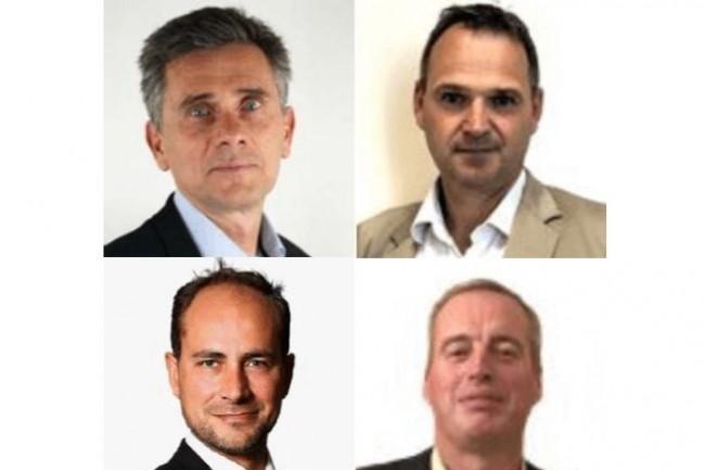 Jean-Michel Estibals et Thomas Muffat-Jeandet (à g.), anciens dirigeants de Twin Solutions, joignent leurs forces à celles d'Alain Repiquet et Serge Ricard (à dr.), anciens de BR3 Solutions, afin de donner naissance à SeeNovate. (Crédit : SeeNovate)
