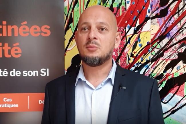 Eric Odin, RSSI de TechnicAtome sur la cybermatinée sécurité d'Aix-en-Provence organisée en mai 2019 par LMI. (crédit : LMI)