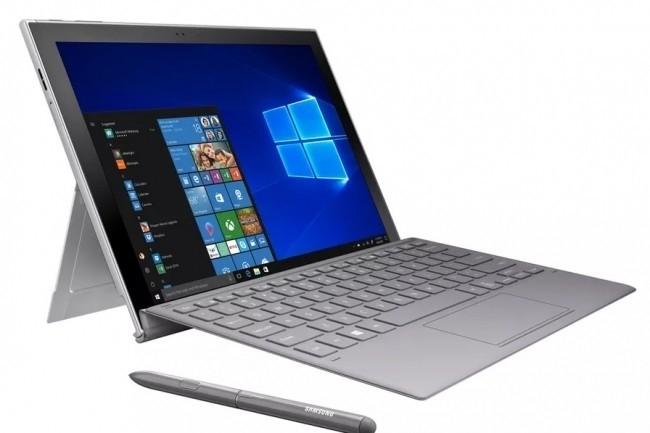 On dirait un PC mais il s'agit bien d'une tablette : la Galaxy Book 2 de Samsung. (Crédit Samsung)