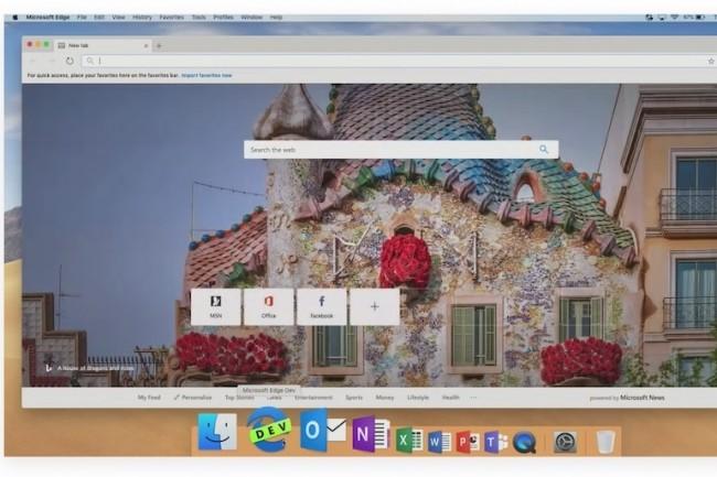 Microsoft Edge arrivera sur Wondows, Android, iOs et aussi MacOS. (Crédit Microsoft)