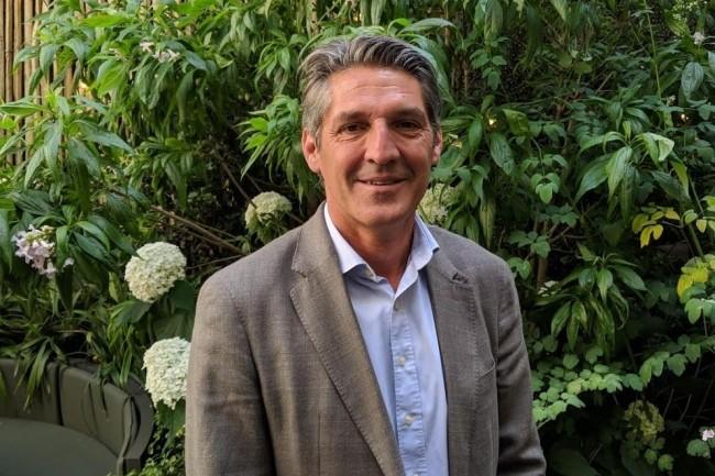 Laurent Dechaux, vice-président exécutif de Sage le 8 juillet 2019 à Neuilly. (crédit : D.F.)