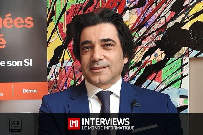 Moïse Moyal, délégué à la sécurité numérique PACA, ANSSI sur la cybermatinée sécurité d'Aix-en-Provence organisée en mai 2019 par LMI. (crédit : Jean Elyan/LMI)