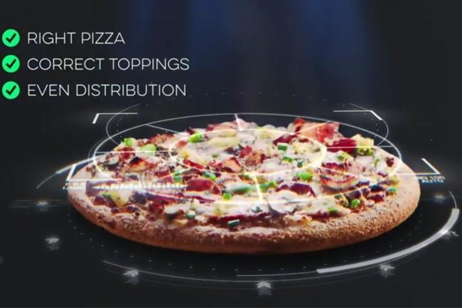 La technologie DOM Pizza Checker est pour le moment seulement disponible en Australie et Nouvelle-Zélande. (Crédit : Domino's)