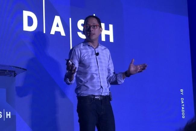 Alexis Lê-Quôc, cofondateur et CTO de l'éditeur Datadog, a ouvert la seconde convention Dash de l'éditeur à NY. (Crédit S.L.)