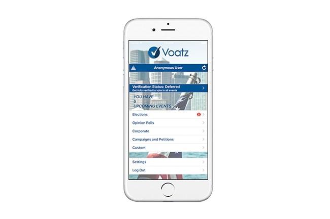 L'application Voatz, développée à Boston, a été testé dans plusieurs comtés américains pour permettre aux militaires de voter. Mais elle est aussi utilisée par d'autres organismes, comme des syndicats ou des ONG. (Crédit : Voatz)