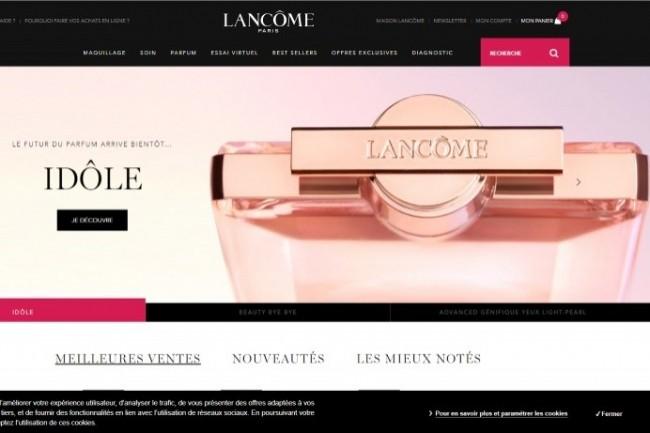 L'optimisation de la page de connexion du site de Lancôme a permis d'accroître le chiffre d'affaires de 15 %.