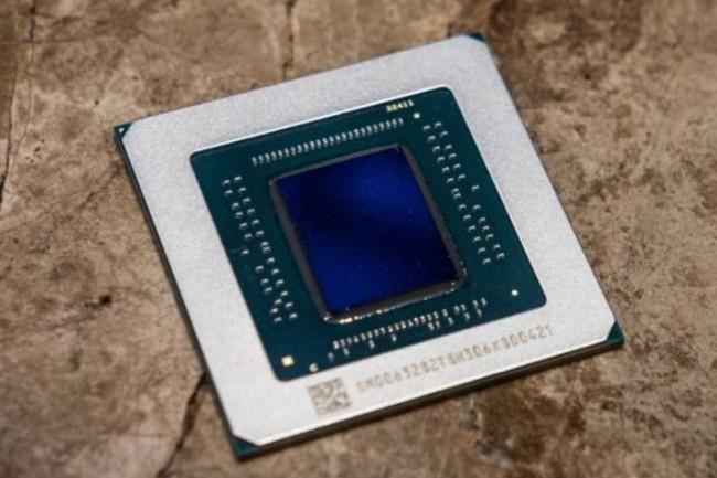 La puce graphique AMD Radeon Navi RX 5700 est grvé en 7nm. (crédit : Adam Patrick Murray/IDG)