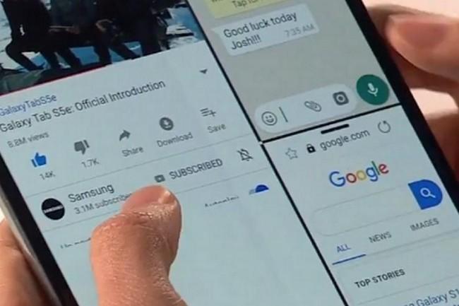 Pour convaincre le marché, le Samsung Galaxy Fold va devoir démontrer sa robustesse. (Crédit Samsung)