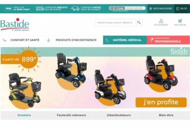 Outre une centaine de magasins, Bastide Médical dispose d'un site e-commerce.