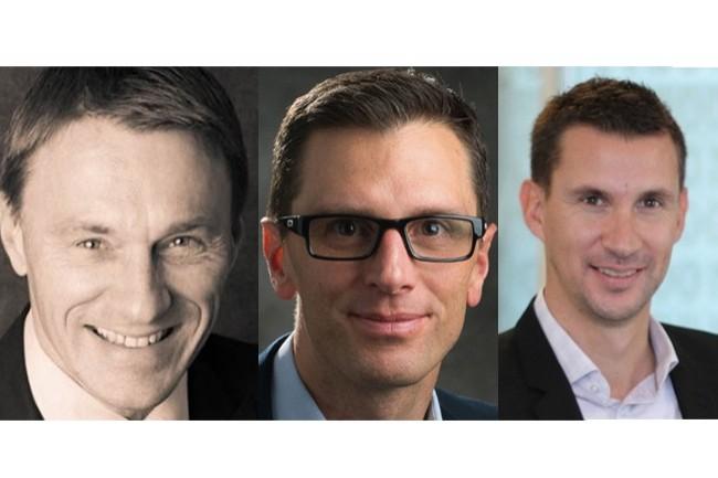 Philippe Julien (àgauche) prend la responsabilité des comptes clients du Sud-Ouest de Trend Micro, Vincent Prost (au centre), est nommé au Sud-Est et Vincent Prioux au Nord-Ouest. (Crédit : Trend Micro)
