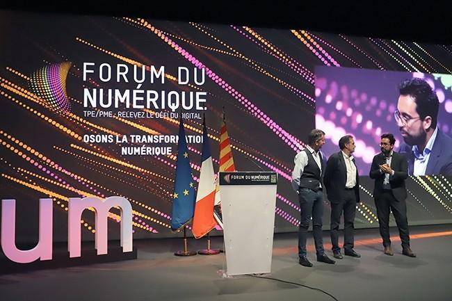 L'an passé, l'ancien secrétaire d'Etat au Numérique, Mounir Mahjoubi, avait fait le déplacement pour la première édition du Forum du Numérique à Marseille. (Crédit : Forum du Numérique)