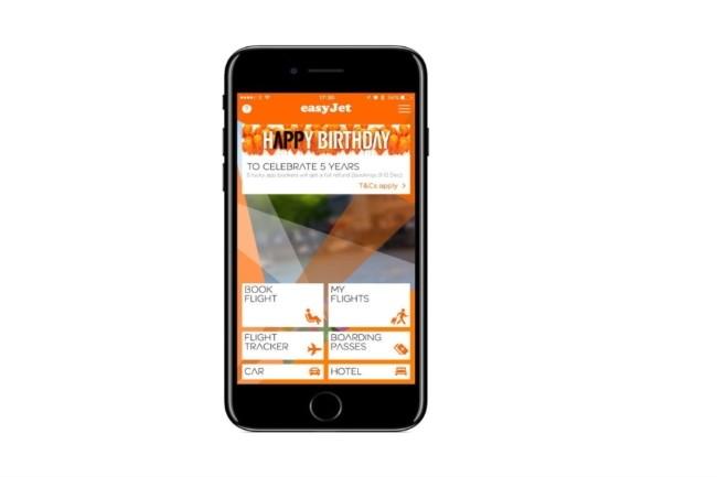 La réservation de vols par commandes vocales arrive bientôt sur l'application mobile Easyjet. (Crédit Photo : Easyjet)
