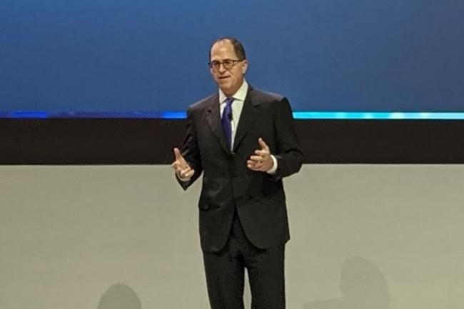 Michael Dell, président et CEO de Dell Technologies était présent en France à l'occasion de l'événement Dell Technologies Forum 2019 qui s'est tenu à Paris le 17 septembre 2019. (crédit : D.F.)