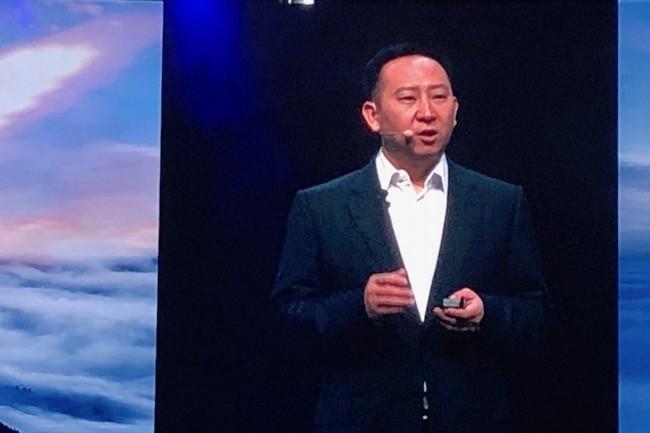 Michael Ma, responsable des activités cloud de Huawei, prépare l'atterrissage de l'écosystème ARM64 avec ses puces Kunpeng 920. (Crédit S.L.)