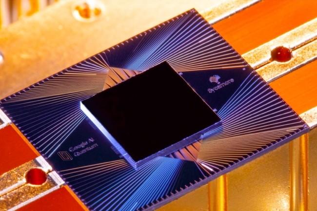 Google a utilisé un système quantique basé sur la puce Sycamore pour atteindre la « suprématie quantique ». crédit : Google