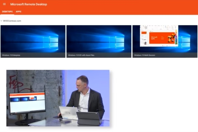 Le mode multi-sessions de Windows Virtual Desktop est une fonction demand�e. (Cr�dit Photo: Microsoft)