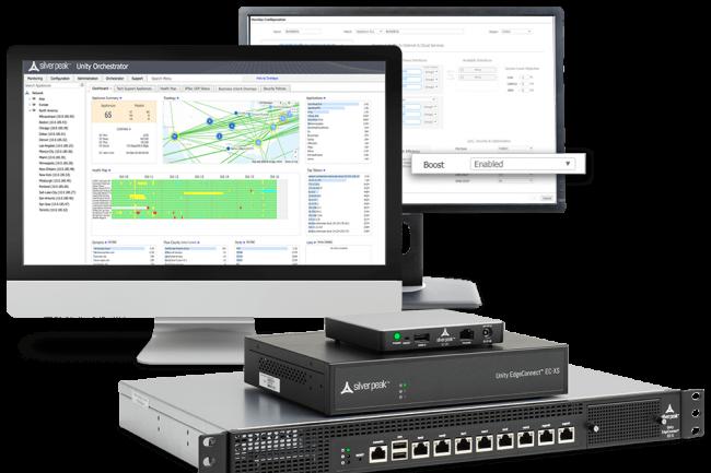 La solution Unity EdgeConnect est disponible sous forme d'appliance physique, vituelle et dans le cloud. (Crédit Silver Peak)