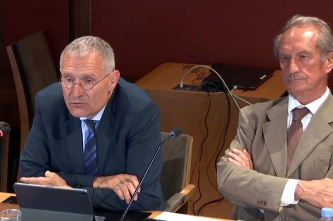 La commission d'enquête du Sénat sur la souverainté numérique est présidée par Franck Montaugé (à gauche) et a pour rapporteur Gérard Longuet. (crédit : Senat.fr)