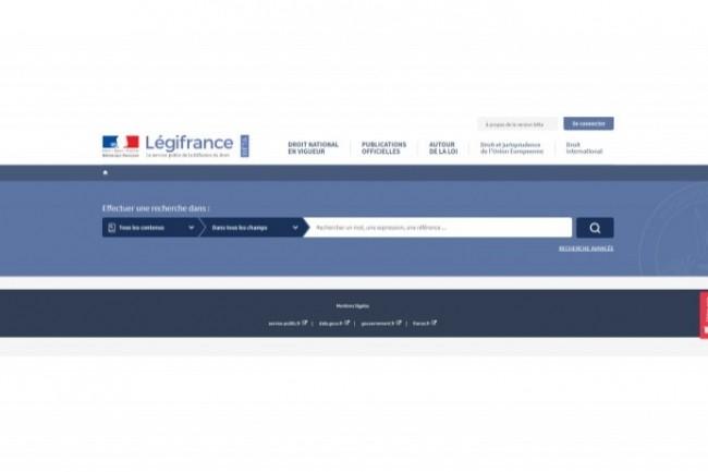La version beta du nouveau Legifrance bénéficie d'un graphisme dépouillé et d'un enrichissement de fonctionnalités.