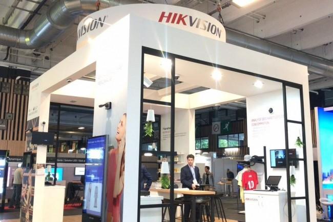 Hikvision, implanté en France en février 2014, est présent dans des événements comme la ParisRetailWeek. Crédit photo : D.R