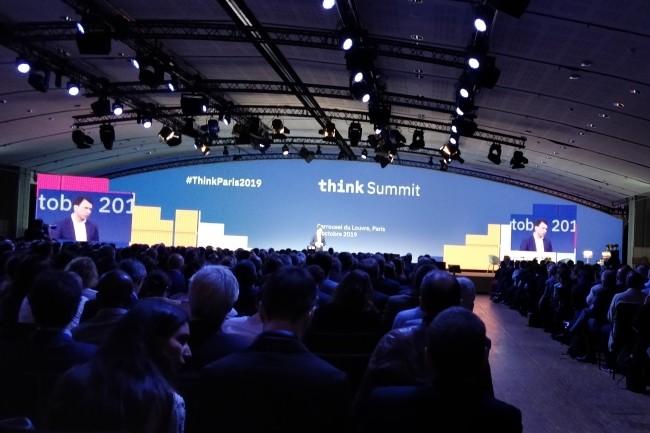 De nombreuses personnes sont venues au Think Summit d'IBM pour en savoir plus sur la stratégie de Big Blue suite au rachat de Red Hat. (Crédit Photo : DR)