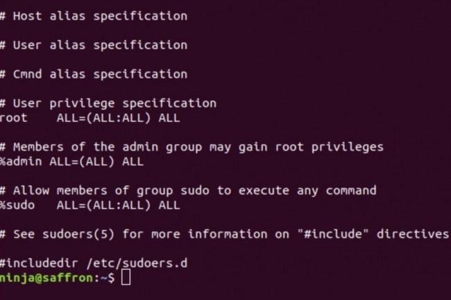 Par défaut, dans la plupart des distributions Linux, le mot clé ALL dans la spécification RunAs du fichier / etc / sudoers permet à tous les utilisateurs des groupes admin ou sudo d'exécuter n'importe quelle commande en tant qu'utilisateur valide du système. (crédit : D.R.)