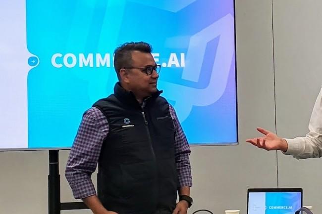 Andy Pandharikar, CEO de Commerce.Ai,  a été particulièrement secret quant aux fondements de sa solution. (Crédit S.L.)