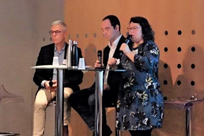 Les intervenants sur le débat RGPD lors de l'IT Tour Nantes 2019 avec (de gauche à droite) : Franck Lusteau (directeur des solutions numériques du département de la Vendée), Richard Michalowicz (RSSI du département de la Vendée et membre de l'AFCDP) et Katell Auguié (chargée de mission protection des données et administration électronique à la Mairie d'Orvault). crédit : LMI