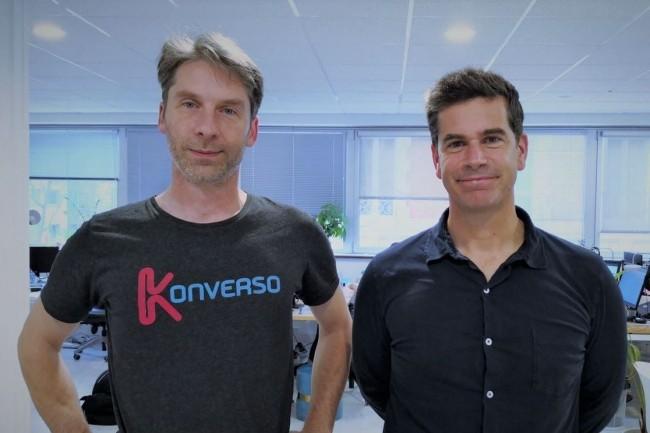 Les co-fondateurs de Konverso, Amédée Potier (à gauche), CTO, et Bertrand Lafforgue, président, disposent chacun d'une expérience de plus de 15 ans chez SAP, Microsoft ou Rocket Software. (Crédit : Konverso)