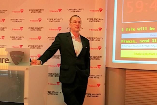 Mikko Hypponen, CRO de F-Secure, s'intéresse aujourd'hui à la vulnérabilité de l'IoT. (crédit S.L.)